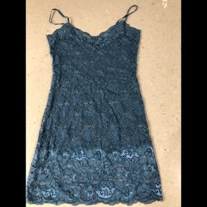 Wet Seal Lace Periwinkle Blue Tank - Size XS